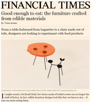 Good Enough to Eat: The Furniture Crafted from Edible Materials