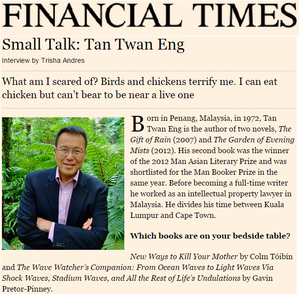 Small Talk: Tan Twan Eng