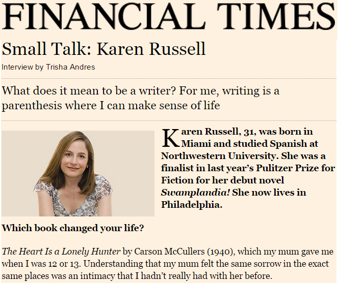 Small Talk: Karen Russell