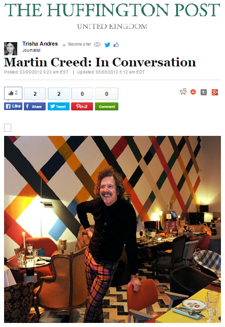 Martin Creed: In Conversation