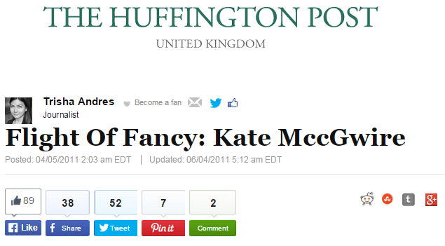 Flight Of Fancy: Kate MccGwire