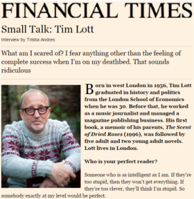 Small Talk: Tim Lott