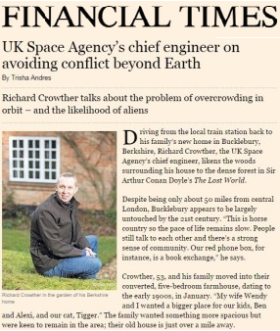 UK Space Agency's Chief Engineer on Avoiding Conflict Beyond Earth