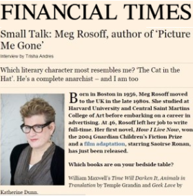 Small Talk: Meg Rosoff, Author of 'Picture Me Gone'