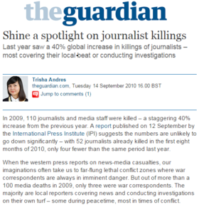 Shine a Spotlight on Journalist Killings