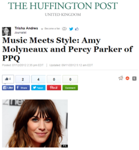 Music Meets Style: Amy Molyneaux and Percy Parker of PPQ