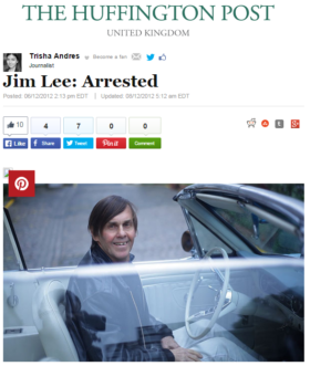 Jim Lee: Arrested
