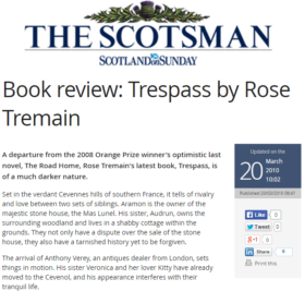 Book Review: Trespass by Rose Tremain