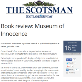 Book Review: Museum of Innocence